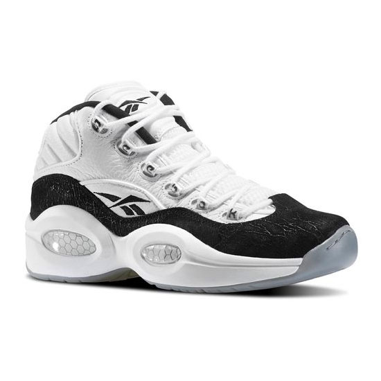 REEBOK MEN\'S CLASSICS QUESTION MID Black / White