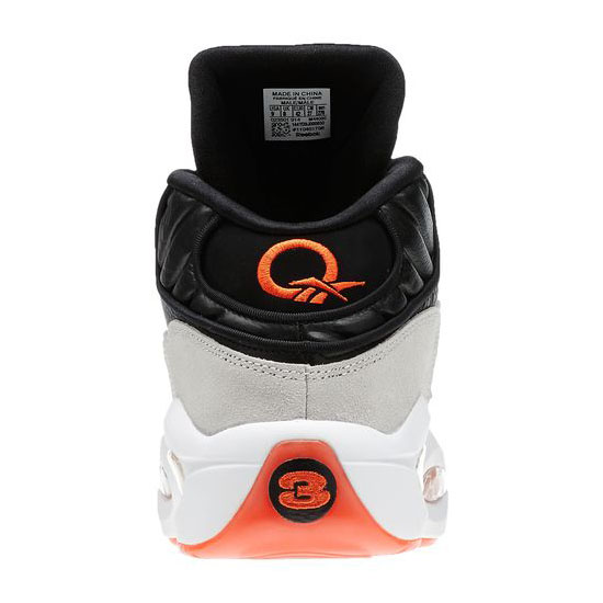 REEBOK MEN\'S CLASSICS PUMP QUESTION Black / Steel / White / Flux Orange