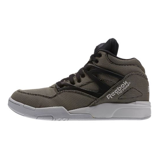 REEBOK MEN\'S CLASSICS PUMP OMNI LITE TECH  Black / Steel