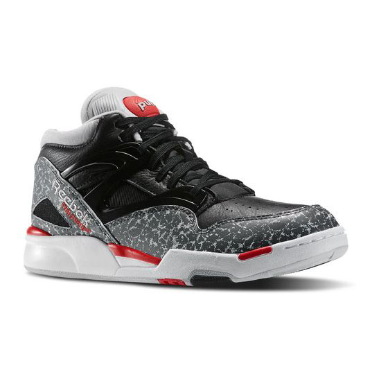 REEBOK CLASSICS PUMP OMNI LITE Black / Rivet Grey / Steel / Red Rush / White
