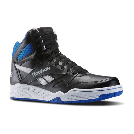 REEBOK MEN\'S CLASSICS REEBOK ROYAL BB4500 HI Black / Steel / White / Collegiate Royal