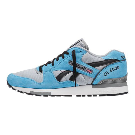 REEBOK MEN\'S CLASSICS GL 6000 ATHLETIC Blue Beam / Flat Grey / Black / White