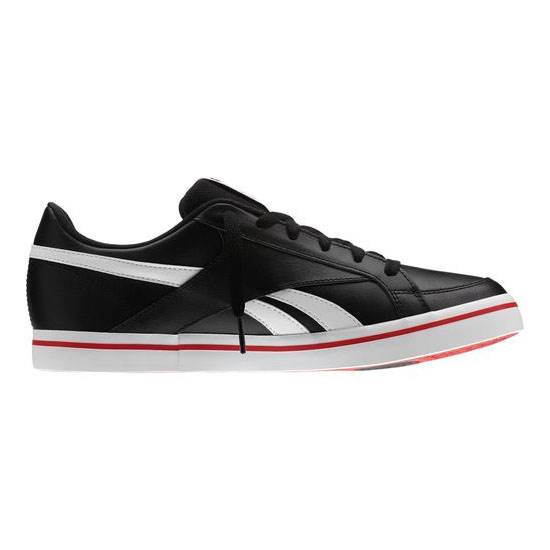 REEBOK MEN\'S CLASSICS LC COURT LOW  Black / White / Red Rush