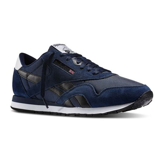REEBOK MEN'S CLASSICS CLASSIC NYLON R13 Collegiate Navy / Black / White