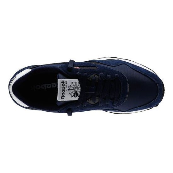 REEBOK MEN\'S CLASSICS CLASSIC NYLON R13 Collegiate Navy / Black / White