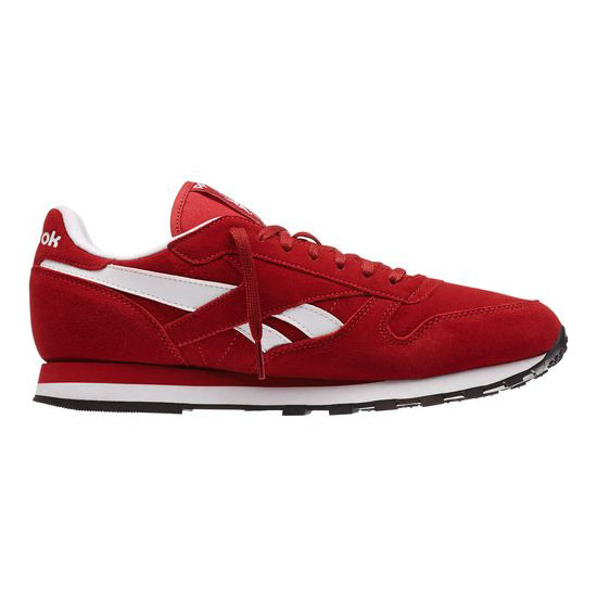 REEBOK MEN\'S CLASSICS CLASSIC LEATHER SUEDE Power Red / White / Black / Gold Met