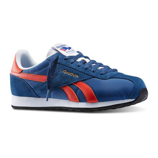 REEBOK MEN\'S CLASSICS REEBOK ROYAL ALPEREZ RUN Batik Blue / Bold Orange / White / Black / Reebok Brass
