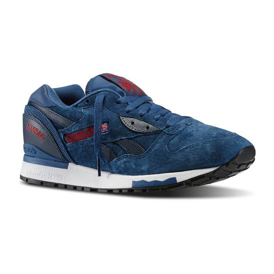 REEBOK MEN'S CLASSICS LX 8500  Batik Blue / Faux Indigo / Flash Red / White / Black