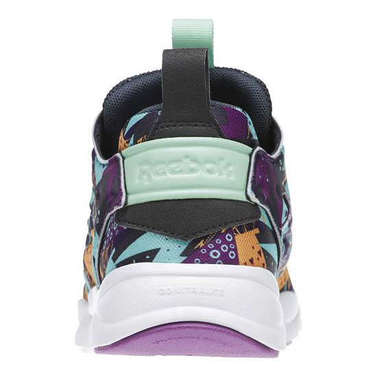 REEBOK MEN\'S CLASSICS FURYLITE GRAPHIC  Aubergine / Gravel / Mint Glow / Orange / Purple / White