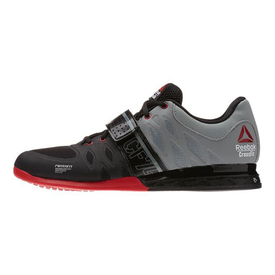 REEBOK MEN\'S CROSSFIT REEBOK CROSSFIT LIFTER 2.0 Black / Flat Grey / Excellent Red