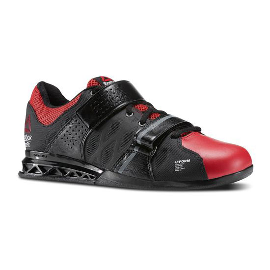 REEBOK MEN\'S CROSSFIT REEBOK CROSSFIT LIFTER PLUS 2.0 Black / Excellent Red / Flat Grey