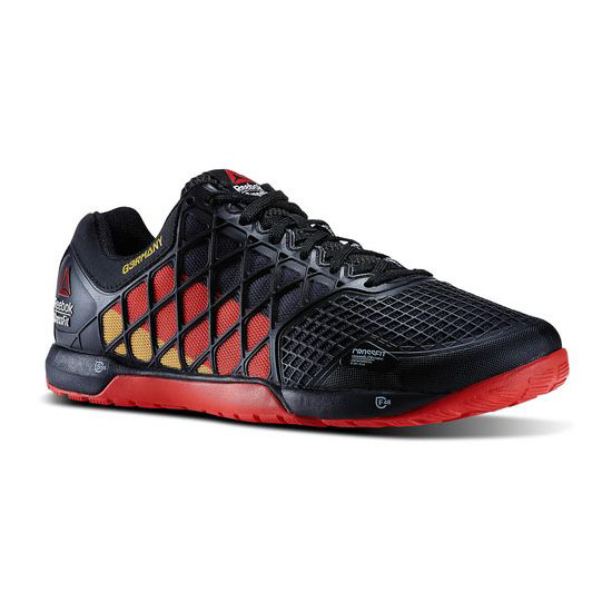 REEBOK MEN'S CROSSFIT REEBOK CROSSFIT NANO 4.0 GER FLAGPAX Black / Red / Retro Yellow / White