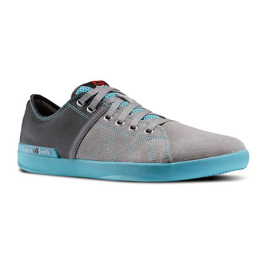 REEBOK MEN'S CROSSFIT REEBOK CROSSFIT LITE LO TR Flat Grey / Gravel / Neon Blue / Medium Grey