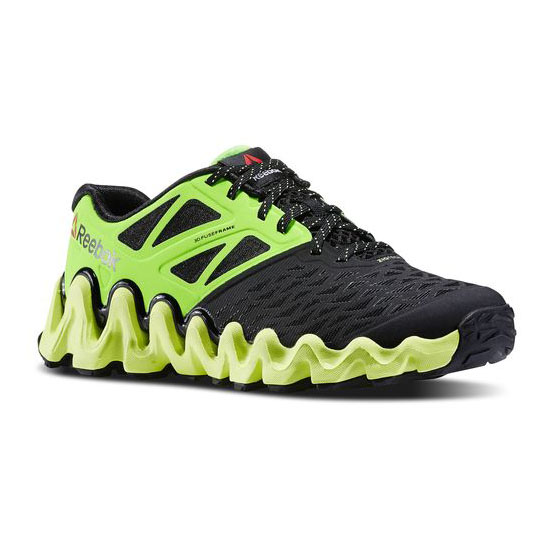 REEBOK WOMEN\'S RUNNING ZIGTECH BIG N TOUGH Black / Solar Green / Solar Yellow / White