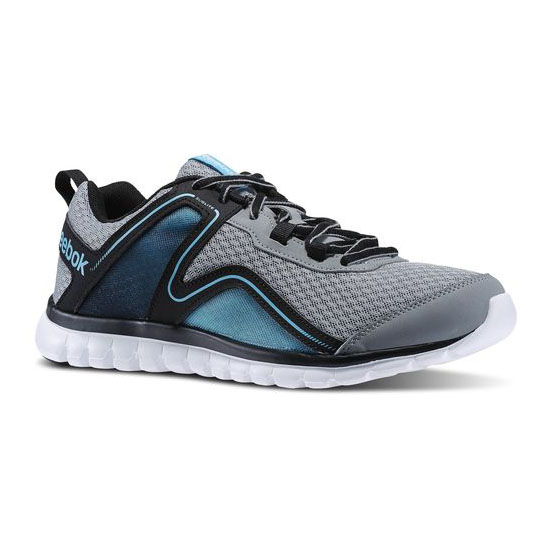 REEBOK WOMEN'S RUNNING SUBLITE ESCAPE 2.0 Flat Grey / Black / Neon Blue / White