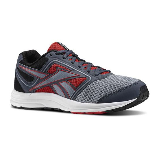 REEBOK WOMEN'S RUNNING ZONE CRUSHRUN Flat Grey / Red Rush / Black / Graphite / White