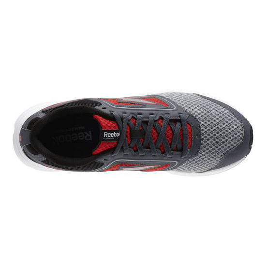 REEBOK WOMEN\'S RUNNING ZONE CRUSHRUN Flat Grey / Red Rush / Black / Graphite / White