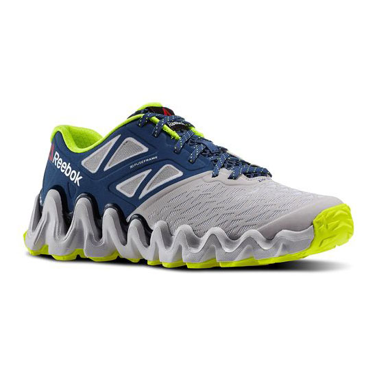 REEBOK WOMEN\'S RUNNING ZIGTECH BIG N TOUGH Steel / White / Batik Blue / Faux Indigo
