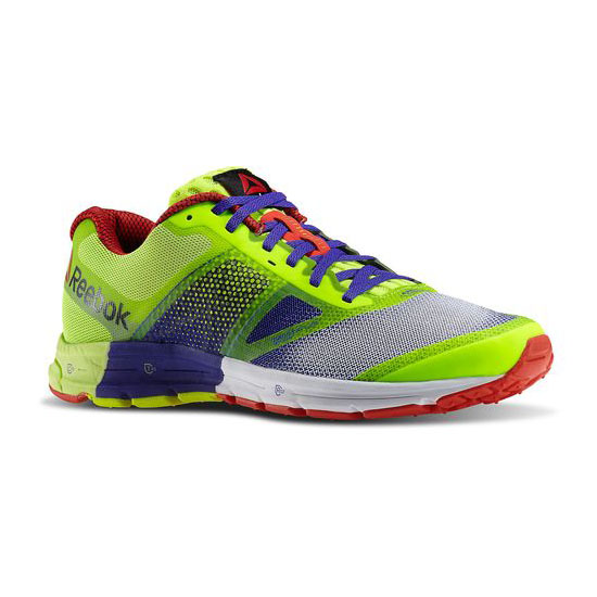 REEBOK WOMEN\'S RUNNING REEBOK ONE CUSHION 2.0  Ultima Purple / Solar Yellow / White / Red