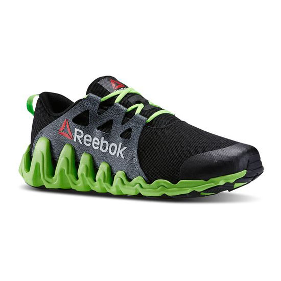 REEBOK WOMEN\'S RUNNING ZIGTECH BIG & FAST Black / Solar Green / White