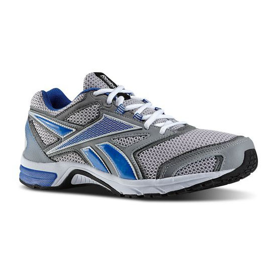 REEBOK WOMEN'S RUNNING SOUTHRANGE RUN L X WIDE Flat Grey / Steel / White / Vital Blue / Black