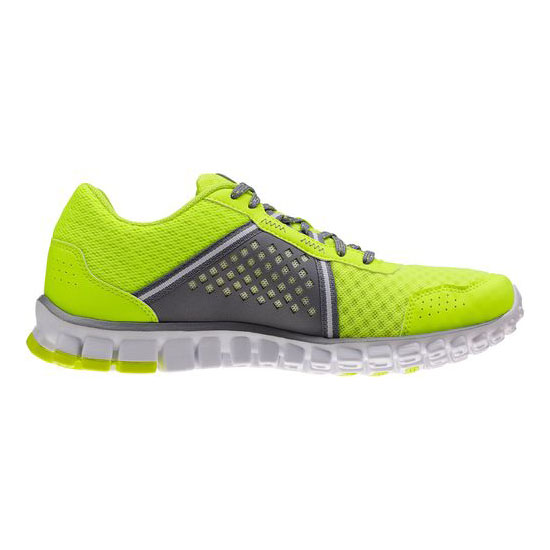 REEBOK WOMEN\'S RUNNING REALFLEX SCREAM 4.0 Neon Yellow / Flat Grey / White