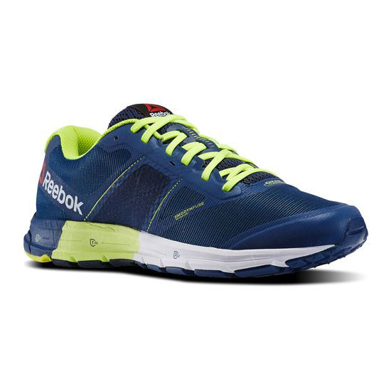 REEBOK WOMEN'S RUNNING REEBOK ONE CUSHION 2.0 CITY LIGHTS Faux Indigo / Silver Met / Solar Yellow / Batik Blue