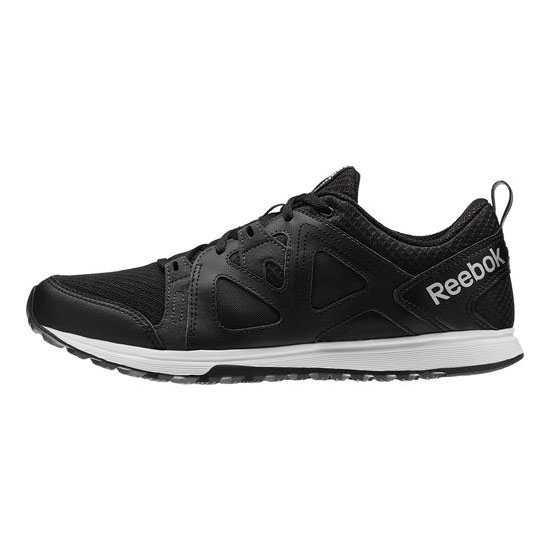 REEBOK MEN\'S TRAINING TRAIN FAST XT Black / Gravel / White / Silver Met