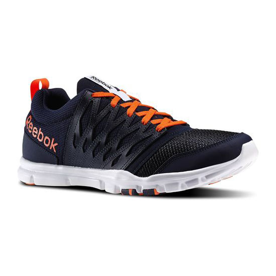 REEBOK MEN'S TRAINING YOURFLEX TRAIN 5.0  Faux Indigo / Vivid Tangerine / White