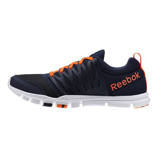 REEBOK MEN\'S TRAINING YOURFLEX TRAIN 5.0  Faux Indigo / Vivid Tangerine / White