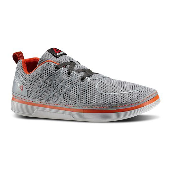 REEBOK MEN'S TRAINING REEBOK NANOSSAGE LACE UP Flat Grey / Steel / Flux Orange / Gravel