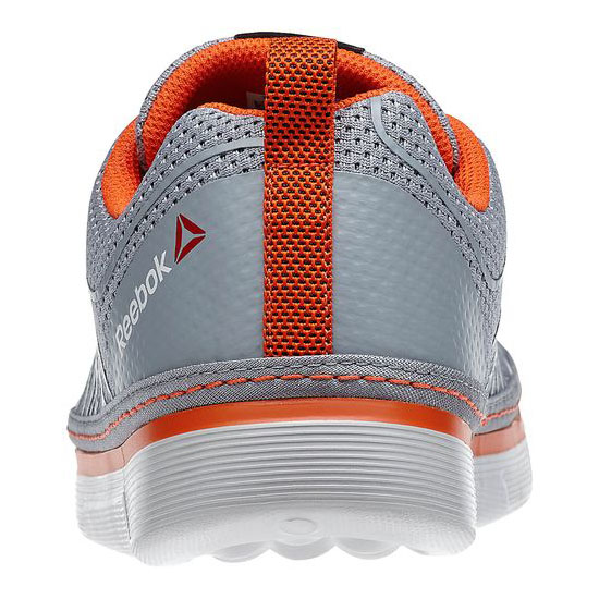REEBOK MEN\'S TRAINING REEBOK NANOSSAGE LACE UP Flat Grey / Steel / Flux Orange / Gravel