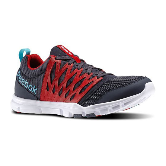 REEBOK MEN'S TRAINING YOURFLEX TRAIN 5.0  Graphite / Red Rush / Neon Blue / White