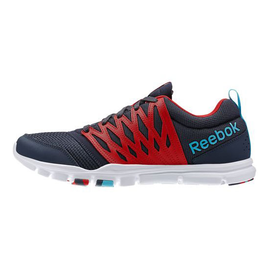 REEBOK MEN\'S TRAINING YOURFLEX TRAIN 5.0  Graphite / Red Rush / Neon Blue / White