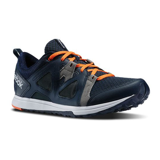 REEBOK MEN\'S TRAINING TRAIN FAST XT Faux Indigo / Foggy Grey / Vivid Tangerine / White