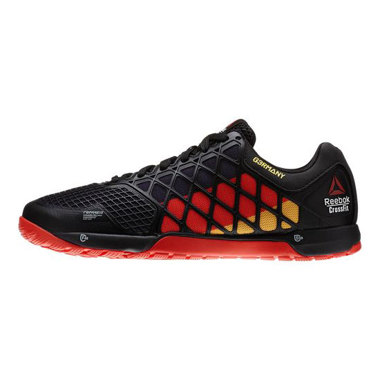 REEBOK MEN\'S CROSSFIT REEBOK CROSSFIT NANO 4.0 GER FLAGPAX Black / Red / Retro Yellow / White