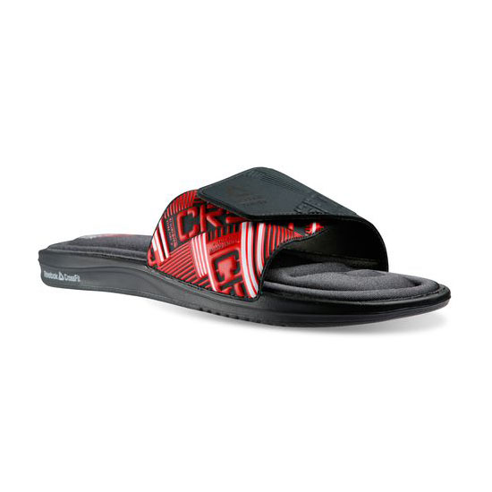 REEBOK MEN'S CROSSFIT REEBOK CROSSFIT VICTORY SLIDE Gravel / Red Rush / White