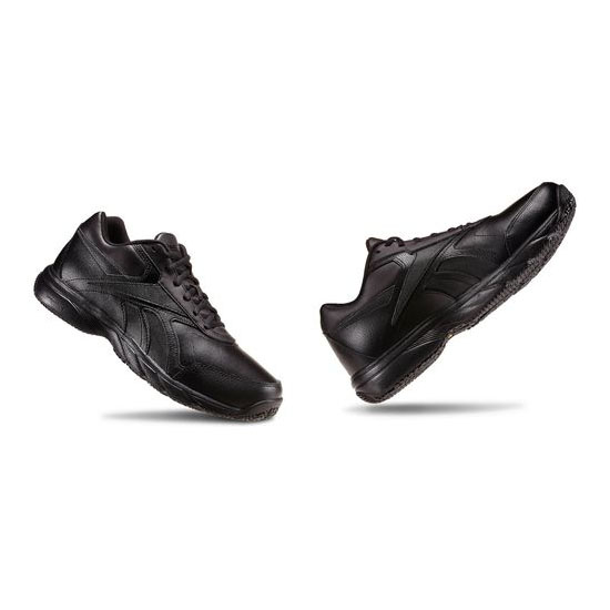 REEBOK MEN'S WALKING WORK N CUSHION - WIDE 4E Black