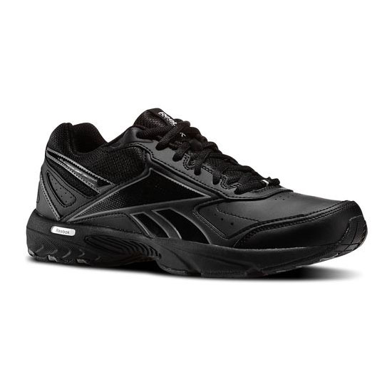 REEBOK MEN'S WALKING DAILY CUSHION 2.0 RS Black / Gravel / Flat Grey