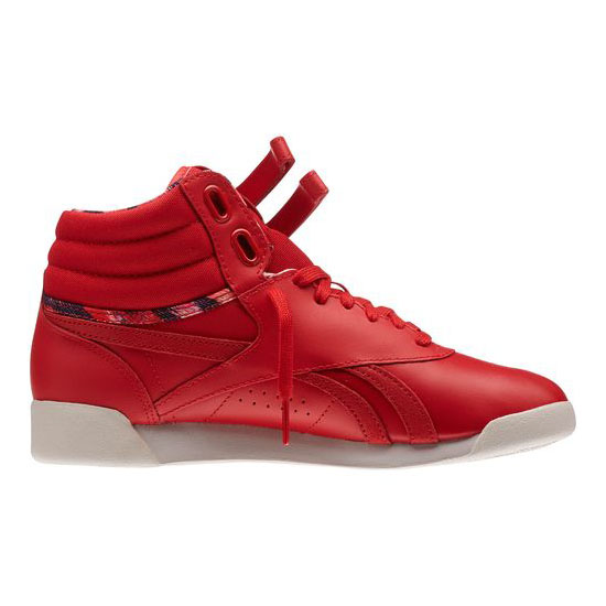 REEBOK WOMEN\'S CLASSICS FREESTYLE HI Red Rush / Moon White
