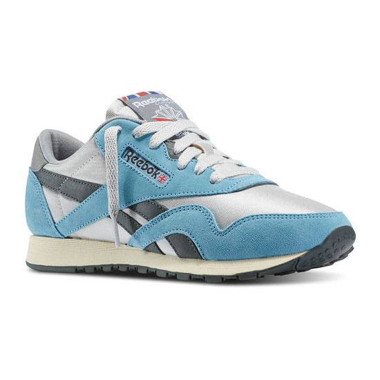REEBOK WOMEN'S CLASSICS CLASSIC NYLON 80 VINTAGE Tough Blue / Steel / Gravel / Foggy Grey / Paperwhite