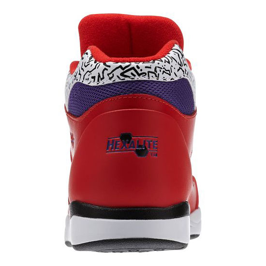 REEBOK WOMEN\'S CLASSICS PUMP AEROBIC LITE CO-OP Red Rush / White / Sport Violet / Black