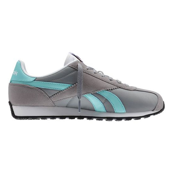 REEBOK WOMEN\'S CLASSICS REEBOK ROYAL ALPEREZ RUN Flat Grey / Crystal Blue / White / Black / Reebok Brass