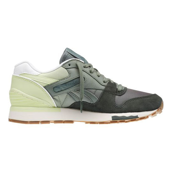 REEBOK WOMEN\'S CLASSICS GL 6000 COLOR FADE Dark Sage / Silvery Green / Citrus Glow / White