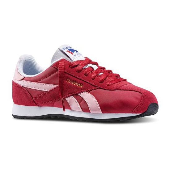 REEBOK WOMEN\'S CLASSICS REEBOK ROYAL ALPEREZ RUN  Bing Cherry / Pink Glow / White / Black / Reebok Brass