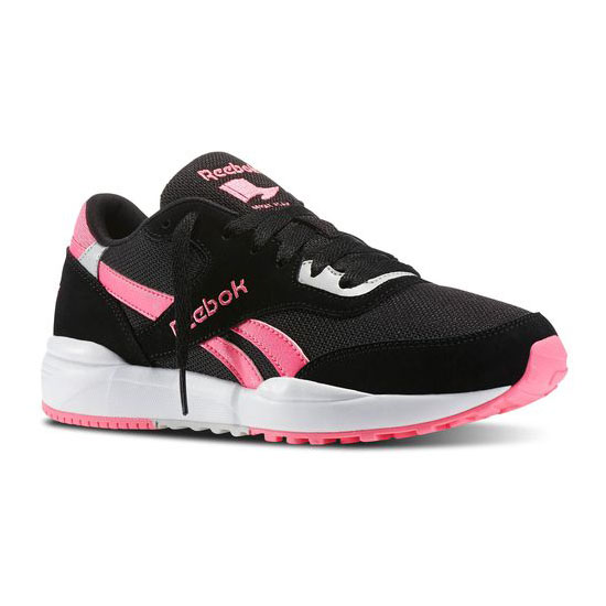 REEBOK WOMEN'S CLASSICS REEBOK ROYAL CHASE  Black / Solar Pink / Steel / White / Collegiate Royal