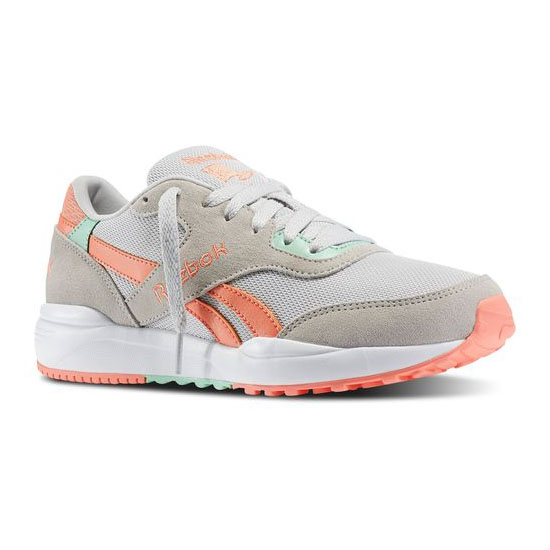 REEBOK WOMEN'S CLASSICS REEBOK ROYAL CHASE Steel / Coral / Mint Glow / White / Collegiate Royal