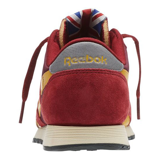 REEBOK WOMEN\'S CLASSICS CLASSIC NYLON 80 VINTAGE Triathalon Red / Dark Red / Trophy Gold / Gravel / Foggy Grey