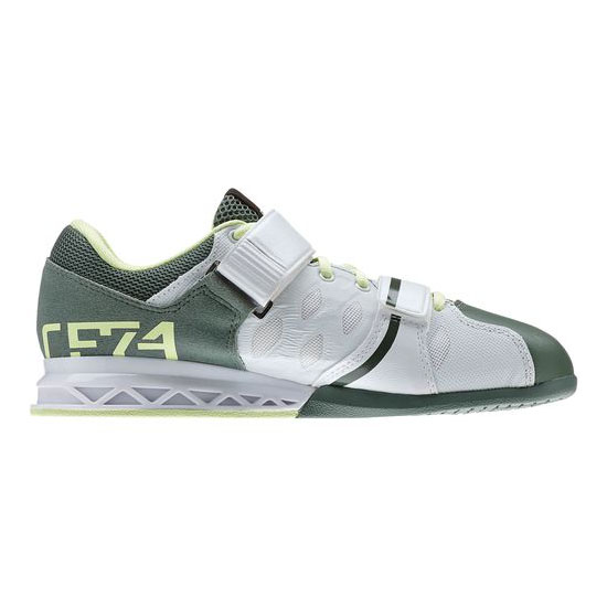 REEBOK WOMEN\'S CROSSFIT REEBOK CROSSFIT LIFTER PLUS 2.0 White / Silvery Green / Citrus Glow
