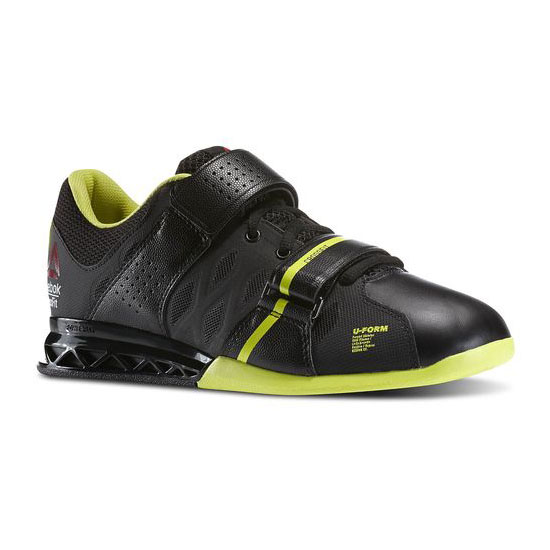 REEBOK WOMEN'S CROSSFIT REEBOK CROSSFIT LIFTER PLUS 2.0 Black / High Vis Green